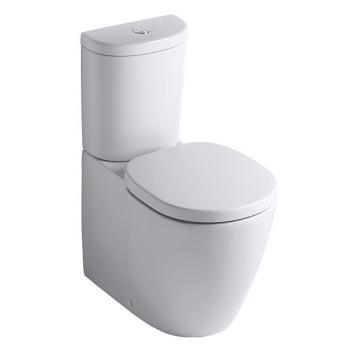 Ideal Standard Connect Standtiefspül-WC-Kombi, Abgang waager. verdeckt L: 66 B: 36 cm weiß Ideal Plus