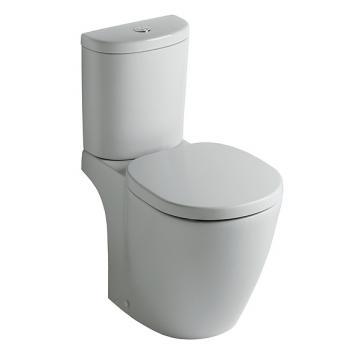 Ideal Standard Connect Standtiefspül-WC-Kombination, Abgang außen waager. L: 66 B: 36 cm weiß