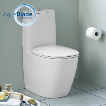 Ideal Standard Dea Stand-Tiefspül-WC Kombination, AquaBlade weiß seidenmatt mit Ideal Plus