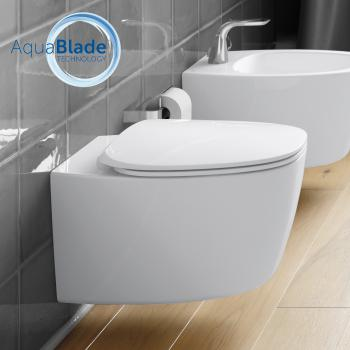 Ideal Standard Dea Wand-Tiefspül-WC, AquaBlade weiß mit Ideal Plus