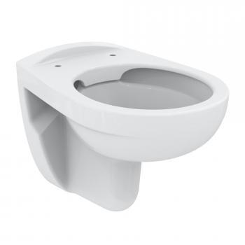 Ideal Standard Eurovit Kombipaket Wand-Tiefspül-WC, ohne Spülrand, mit WC-Sitz