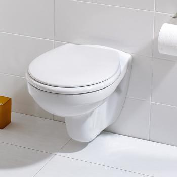 Ideal Standard Eurovit Wand-Tiefspül-WC, ohne Spülrand ohne Beschichtung