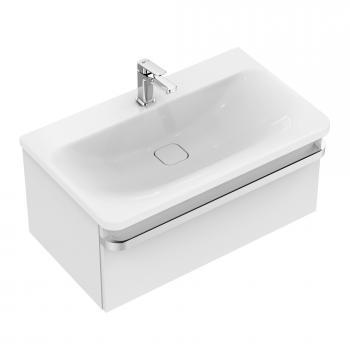 Ideal Standard Tonic II Waschtischunterschrank mit 1 Auszug Front weiß hochglanz/ Korpus weiß hochglanz