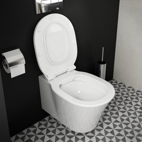 Ideal Standard Connect Air Wand-Tiefspül-WC, ohne Spülrand weiß mit Ideal Plus