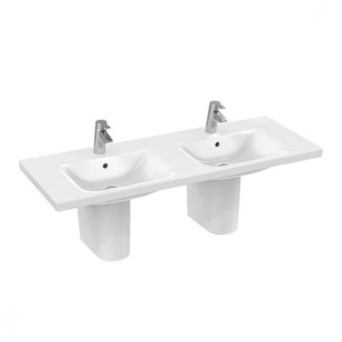 Ideal Standard Connect Möbeldoppelwaschtisch weiß Ideal Plus
