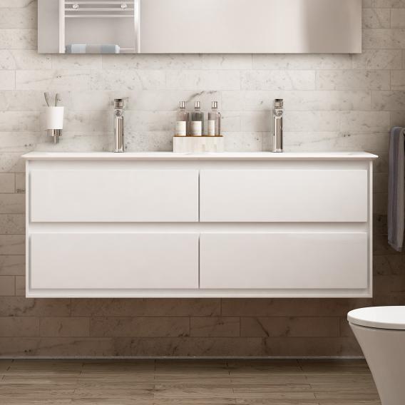 Ideal Standard Connect Air Waschtischunterschrank für Doppelwaschtisch mit 4 Auszügen Front weiß glanz / Korpus weiß glanz/weiß matt
