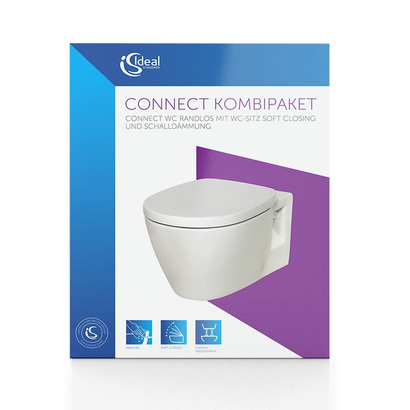 ZUBEHÖR E8174MA WC-SET WAND-WC IDEAL STANDARD CONNECT BESCHICHTUNG SITZ