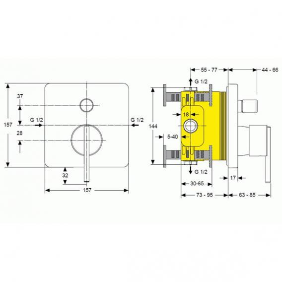 Jado Glance Bade-Einhebelmischer Unterputz Bausatz 2