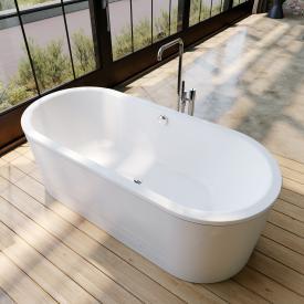 Kaldewei Classic Duo Oval Freistehende Oval-Badewanne weiß, Schürze weiß