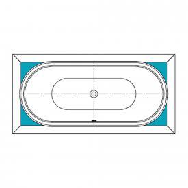 Kaldewei Füllstücke für ovale Whirlwanne, Breite 90 cm Mod 184 Mega Duo Oval