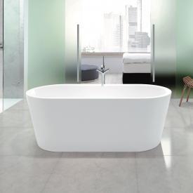 Kaldewei Meisterstück Classic Duo Oval Freistehende Badewanne weiß mit Perl-Effekt, mit Füllfunktion