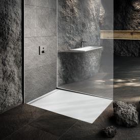 Kaldewei Nexsys Bodenebene Duschfläche Komplett-Set weiß matt, mit Secure Plus, mit ultraflachem Ablauf