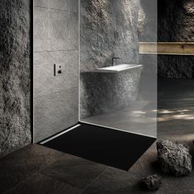 Kaldewei Nexsys Bodenebene Duschfläche Secure Plus, lavaschwarz matt