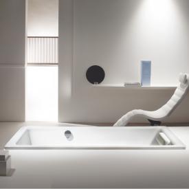 Kaldewei Puro & Puro Star Rechteck-Badewanne mit seitlichem Überlauf weiß, mit Perl-Effekt