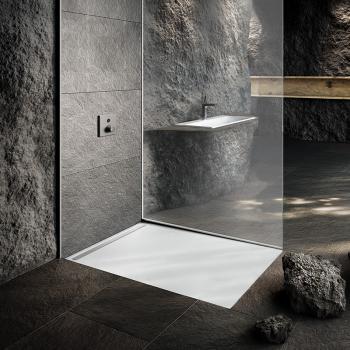 Kaldewei Nexsys Bodenebene Duschfläche Komplett-Set L: 140 B: 100 cm, mit normalem Ablauf