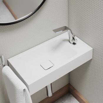 Kaldewei Set Cono Handwaschbecken mit Steinberg 260 Armatur weiß/chrom