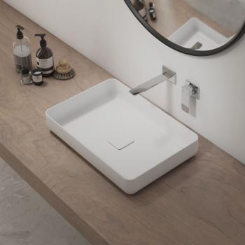 Kaldewei Set Miena Waschtisch-Schale mit Steinberg 205 Armatur weiß/chrom