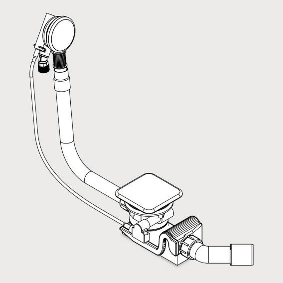 Kaldewei Conoduo und INCAVA KA 4081 Spezial Ab- und Überlaufgarnitur weiß mit Füllfunktion