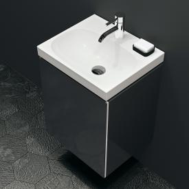 Geberit Acanto Handwaschbeckenunterschrank mit 1 Tür Front schwarz/Korpus schwarz matt