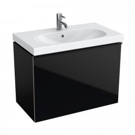 Geberit Acanto Waschtischunterschrank Compact, 1 Auszug Front schwarz/Korpus schwarz matt