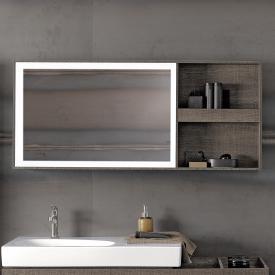 Geberit Citterio Lichtspiegelelement mit Ablagefach graubraun/verspiegelt