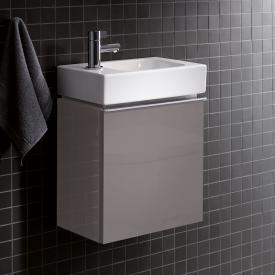 Geberit iCon Handwaschbeckenunterschrank mit 1 Tür Front platin hochglanz / Korpus platin hochglanz