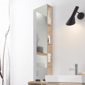 Geberit iCon Regal mit Spiegel Front und Korpus Holzstruktur eiche natur