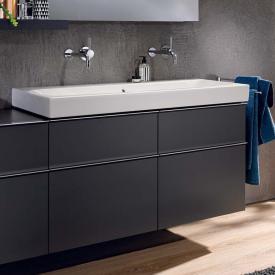 Geberit iCon Waschtischunterschrank mit 4 Auszügen für Doppelwaschtisch Front lava matt / Korpus lava matt