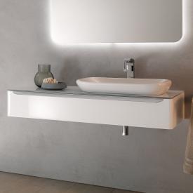 Geberit myDay Waschtischunterschrank mit LED-Beleuchtung Front und Korpus weiß hochglanz