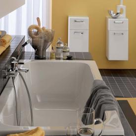Geberit Renova Rechteck-Badewanne, Ab- und Überlauf mittig rechts weiß
