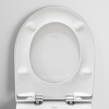 Geberit Acanto WC-Sitz Slim mit Deckel mit Absenkautomatik & abnehmbar
