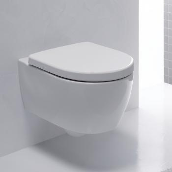 Geberit iCon Wand-Tiefspül-WC kurz, ohne Spülrand weiß mit KeraTect