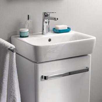 Geberit Renova Compact Handwaschbecken weiß, mit Keratect
