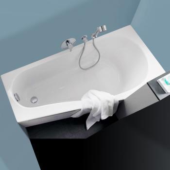 Geberit Renova Compact  Raumspar Badewanne, links weiß