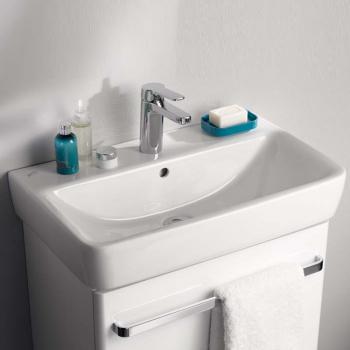 Geberit Renova Compact Waschtisch weiß, mit Keratect