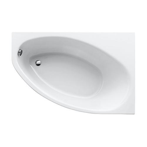 Geberit Renova Asymmetrische Eck-Badewanne, links weiß