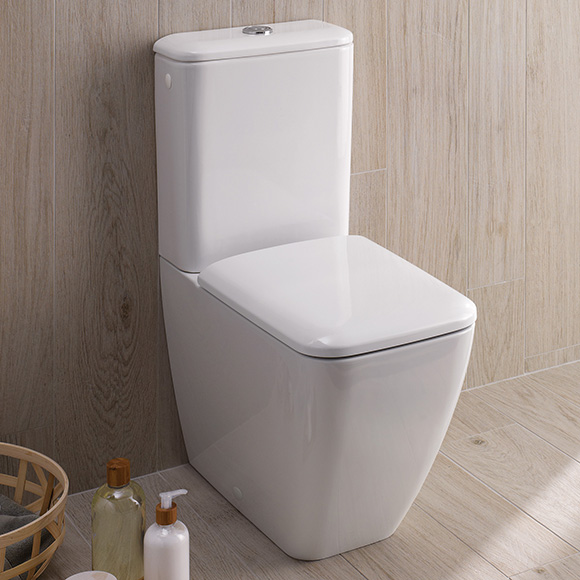 Geberit iCon Square Stand-Tiefspül-WC für Kombination Abgang Duo ...
