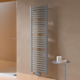 Kermi Basic-50 R Badheizkörper für Warmwasser- oder Mischbetrieb mit gebogenen Rohren glanzsilber metallic, 348 Watt