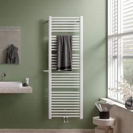Kermi Basic-Plus Badheizkörper mit eingebautem Thermostatventil für Warmwasser- oder Mischbetrieb weiß, 993 Watt, links