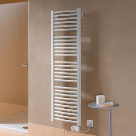Kermi Basic R-E Badheizkörper für rein elektrischen Betrieb mit gebogenen Rohren weiß, 600 Watt, Elektro-Set FKS rechts
