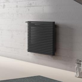 Kermi Decor-Arte Pure Badheizkörper horizontal für Warmwasserbetrieb anthrazit metallic, 404 Watt, seitlich links