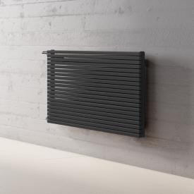 Kermi Decor-Arte Pure Badheizkörper horizontal für Warmwasserbetrieb anthrazit metallic, 538 Watt, seitlich links