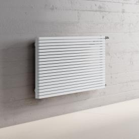 Kermi Decor-Arte Pure Badheizkörper horizontal für Warmwasserbetrieb weiß, 538 Watt, seitlich rechts