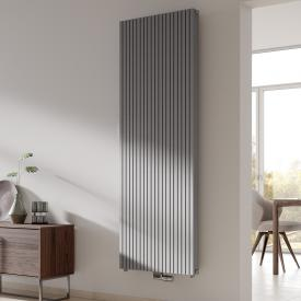 Kermi Decor-Arte Pure Badheizkörper vertikal für Warmwasserbetrieb aluminium metallic, 2047 Watt