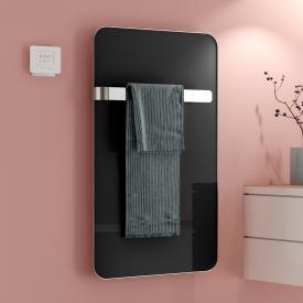 Kermi Elveo Infrarotheizungs-Set mit Handtuchhalter schwarz/aluminium, 255 Watt, Elektro-Set WRX
