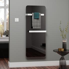 Kermi Elveo Infrarotheizungs-Set mit Handtuchhalter schwarz/aluminium, 400 Watt, Elektro-Set WFS