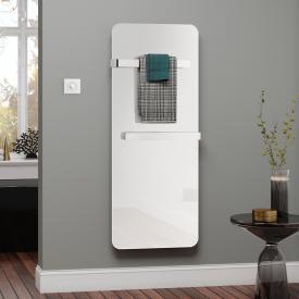 Kermi Elveo Infrarotheizungs-Set mit Handtuchhalter weiß, 400 Watt, Elektro-Set WFS