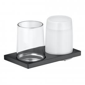 Keuco Edition 11 Doppelhalter für Wandmontage schwarz chrom gebürstet