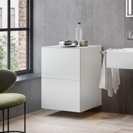 Keuco Edition 90 Sideboard mit 2 Auszügen Front weiß matt / Korpus weiß matt