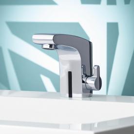 Keuco Elegance IR-Sensor Waschtischarmatur 120, mit Temperaturregulierung netzbetrieben, mit Ablaufgarnitur